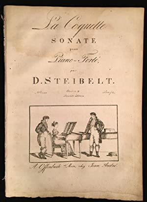 Late 18th c./early 19th c. Illustrated Engraved Sheet Music for ?La Coquette Sonate pour Piano Fo...