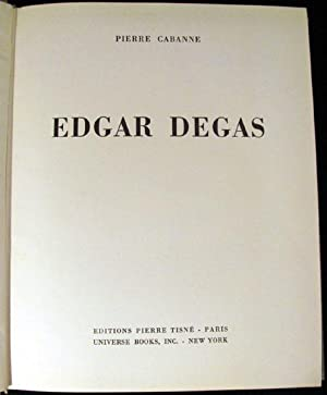 Edgar Degas: Cabanne, Pierre, and Landa, Michel Lee [translator]