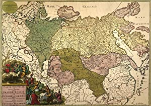 Carte Nouvelle de la Grande Russie or New Map of Grand Russia by R. and I. Ottens c. 1730