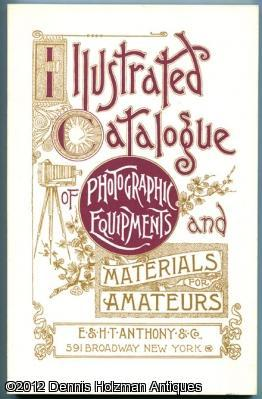 Illustrated Catalogue of Photographic Equipments and Materials for Amateurs: E. & H. T. Anthony & ...