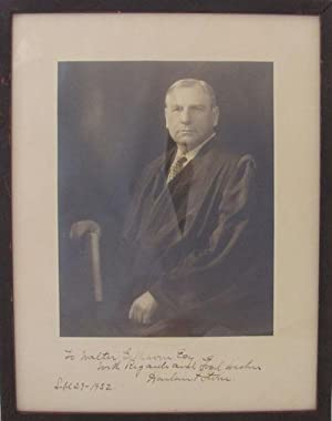 Harlan F. Stone, Chief Justice of the U.S. Supreme Court, Signed Photograph