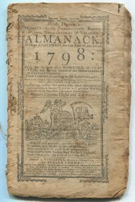 Isaiah Thomas's Massachusetts, Connecticut, Rhode Island, New Hampshire & Vermont Almanack with a...
