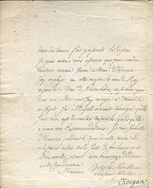 1717 William Cadogan Letter Signed: Cadogan, William