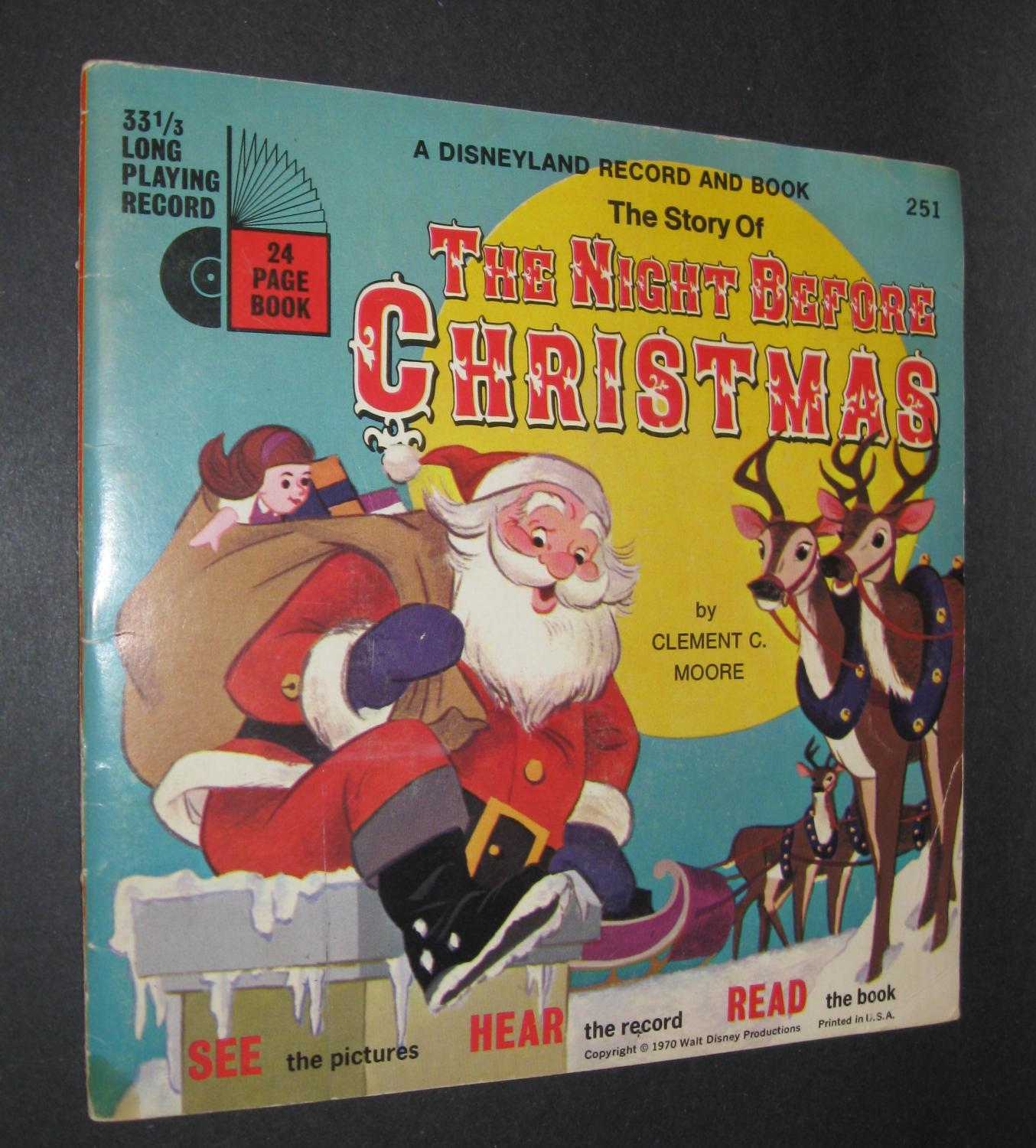 the story of the night before christmas book and record moore clement
