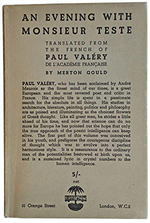 An Evening with Monsieur Teste. Translated from: Valéry, Paul; Gould,