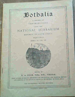 Bothalia : A Record of Contributions from: Dyer, R.A. [editor]