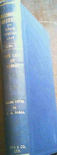 Maasdorp's Institutes of South African Law volume: Maasdorp, Sir A