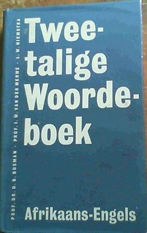 Tweetalige Woordeboek - Afrikaans-Engels: Bosman, Prof. Dr.