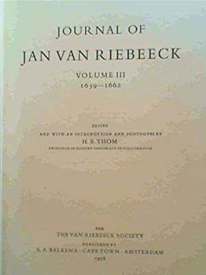 Journal of Jan Van Riebeeck : Volume: Thom, H. B.