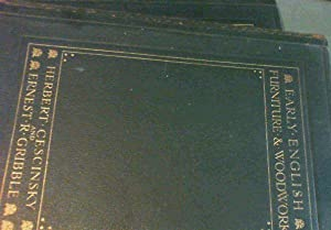 Early English Furniture & Woodwork - Two volumes