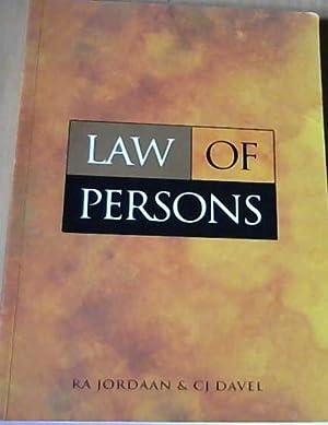 Law of Persons: Jordaan, R A;