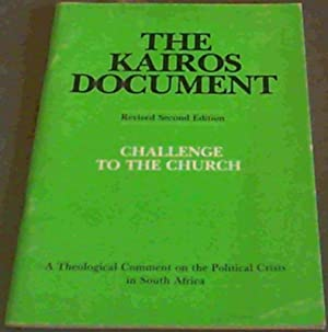 The Kairos Document; Challenge To The Church