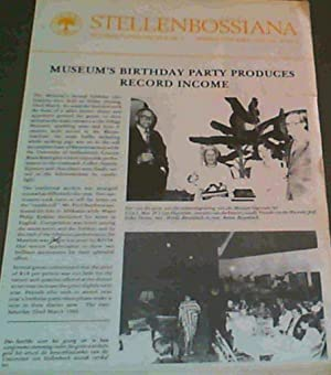 Stellenbossiana : Nuusbrief April 1985 JG 8 Nr. 3 / Newsletter April 1985 Vol 8 No 3