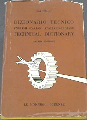 Dizionario Tecnico; Technical Dictionary; English-Italian