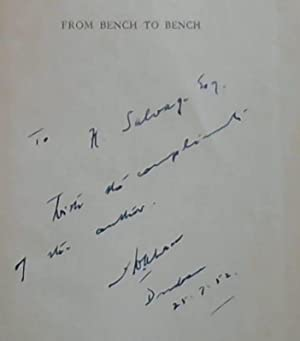 From Bench to Bench : Reflections, Reminiscences: Ahrens, F.W.