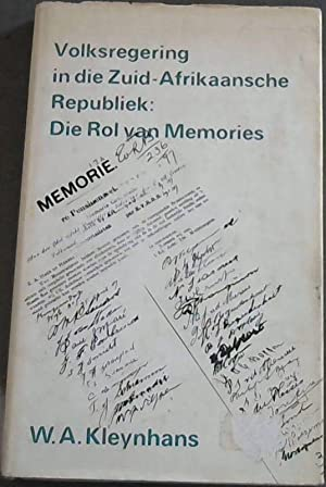 Volksregering in die Zuid-Afrikaansche Republiek: Die Rol: Kleynhans, W. A.