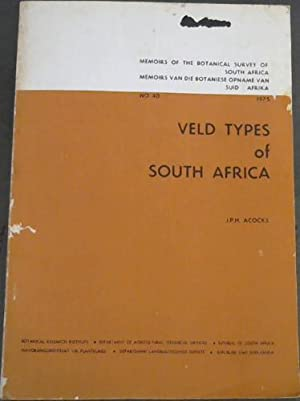 Veld Types of South Africa with accompanying: Acocks, J P