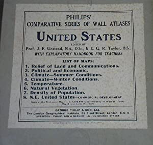 Philips' Series of Comparative Wall Atlases : United States : 1. Relief of Land and Communication...