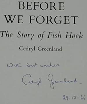 Before We Forget : The Story of: Greenland, Cedryl