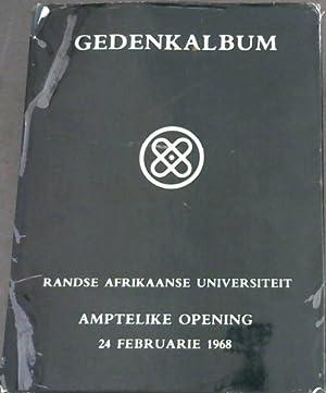 Gedenkalbum : Randse Afrikaanse Universiteit - Amptelike