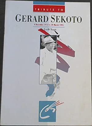 Tribute To Gerard Sekoto: 9 December 1913: Marais, Estelle