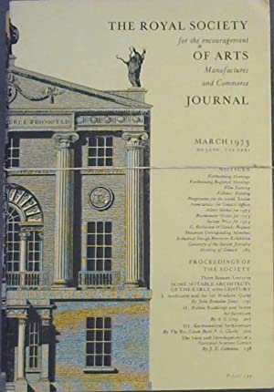 The Royal Society for the encouragement of Arts, Manufactures and Commerce Journal - March, Augus...