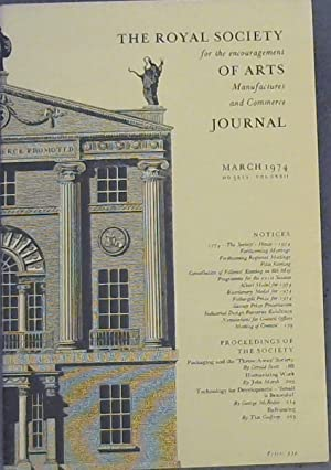 The Royal Society for the encouragement of Arts, Manufactures and Commerce Journal - March 1974