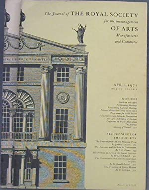The Journal of the Royal Society for the encouragement of Arts, Manufactures and Commerce - March...