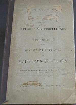 Cape of Good Hope: Report and Proceedings with Appendices of the Government Commission on Native ...
