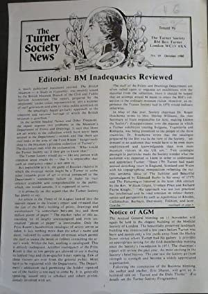 The Turner Society News: No 19 October 1980