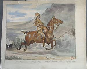 Original Watercolour Painting of Anglo-Boer War Officer