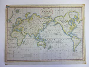 A New and Complete Chart of the World; Displaying the Tracks of Capt. Cook, and Other Modern Navi...