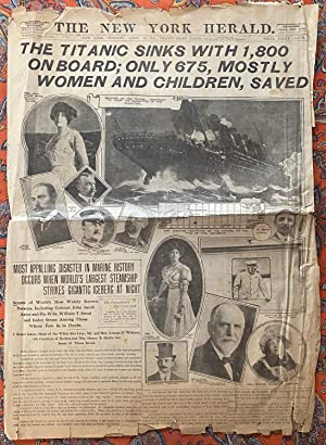 New York Herald Titanic Front Pages