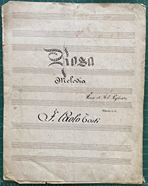Original manuscript/score by Franceso Paolo Testi