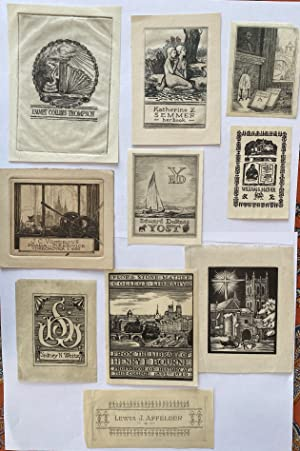 Collection of 10 Bookplates designed by Kalman Kubinyi