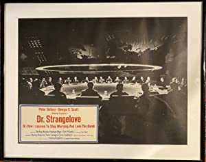 Dr Strangelove (1963) framed B/W photo of Peter Sellars and cast in iconic image