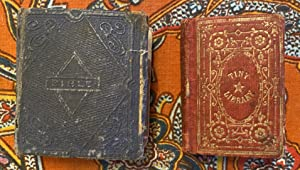 Pair of Early Victorian Era Miniature Books (Bible) (Daily Manna)