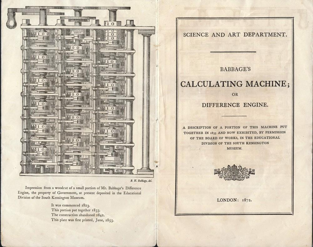 Babbage's Calculating Machine; or Difference Engine. A description of a portion of this ...