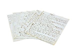 """Lengthy autograph manuscript headed """"Les Bagnes"""", regarding: DUMAS, Alexandre (père)"""