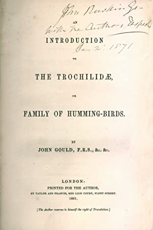 An Introduction to the Trochphyilidae, or family: GOULD, John