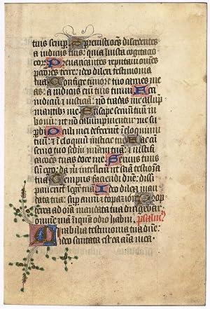 Leaf from a Psalter: ENGLISH ILLUMINATOR
