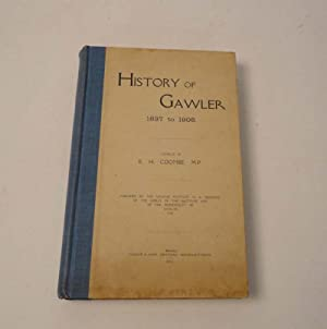 History of Gawler 1837 to 1908: COOMBE, E. H.