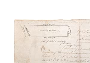 Land grant on vellum signed by Governor: SIMEON LORD] KING,