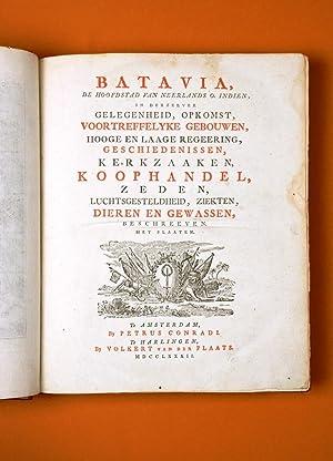 Batavia, De Hoofdstad van Neerlands O. Indien,: VOC] CONRADI, Petrus