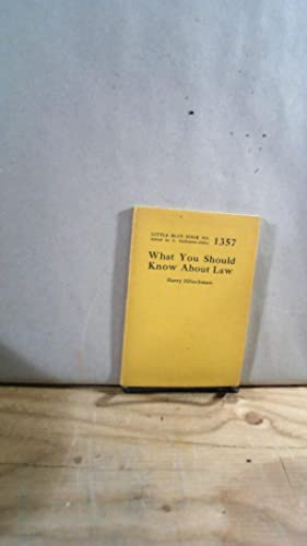 Little Blue Book No. 1357 What You Should Know About Law