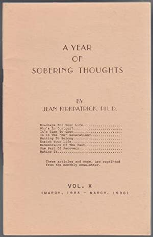 A Year Of Sobering Thoughts Vol X March 1985-1986