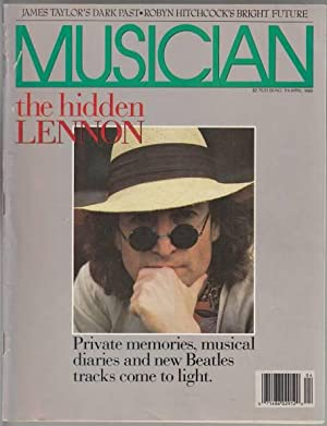 Musician Magazine. John Lennon Cover: The Hidden: Unknown