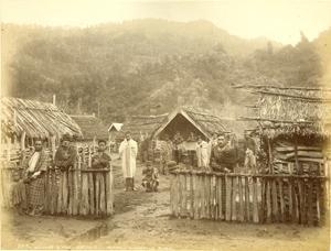 3515 Village Scene, Koroniti (Corinth) Wanganui River, New Zealand [MAORI PHOTOGRAPH]: Burton ...