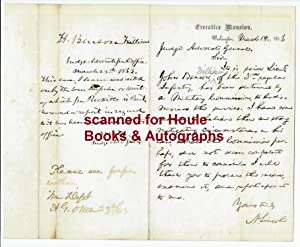 Autograph Letter Signed: LINCOLN, Abraham.