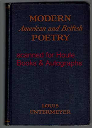 Modern British Poetry: A Critical Anthology